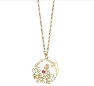 ♥️超低價 🇯🇵日本直送 迪士尼 貝兒 Belle 頸鏈 necklace