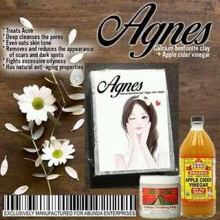 AGNES soap (bentonite clay +acv)