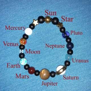 Handmade Solar System Bracelet