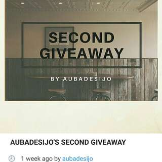 AUBADESIJO' S SECOND GIVEAWAY