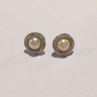 Vintage Pearl Statement Earrings