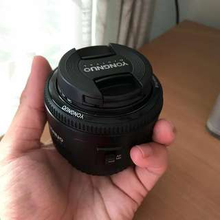 Yongnuo Prime 50mm F1.8 Canon Mount Lens