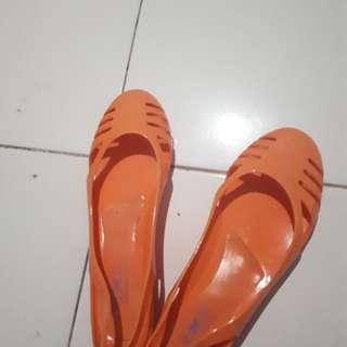 Jelly Orange Shoe by TLTSN