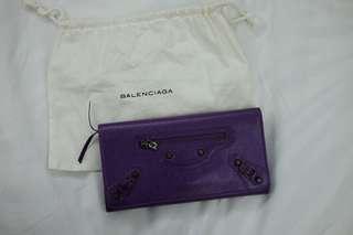 Balenciaga Ultraviolet Classic Money Long Wallet