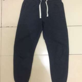 h&m navy sweatpants