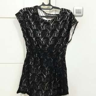 Mini dress broklat hitam