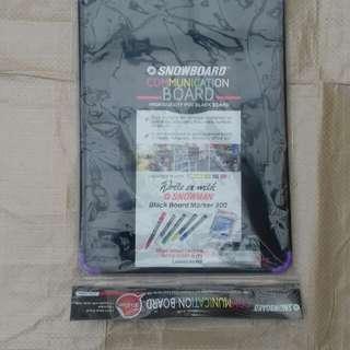 Blackboard spidol snowboard communication board