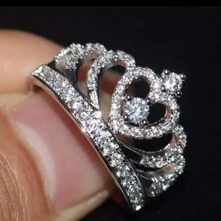 925 Sterling Silver Female CZ stones
