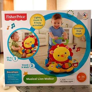 BRAND NEW Fisher Price Musical Lion Walker