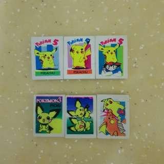 Pikachu Eraser Series