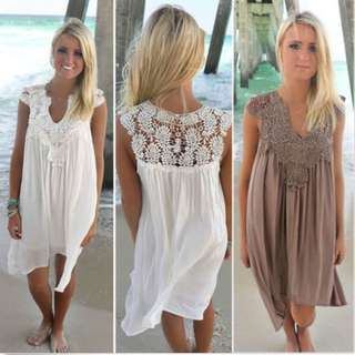 Swing Sun Dress Summer Beach Wear Bikini Cover Up Plus Size Boho Swimwear