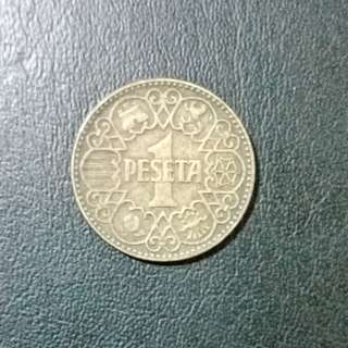 1944 - 1 Peseta