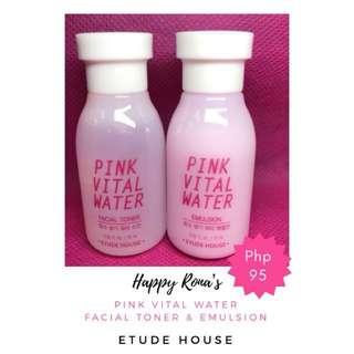 Pink Vital Water Emulsion & Toner