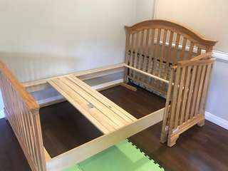 Full size bed frame (includes baby crib converter kit)