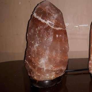 Himalayan Salt Lamp with FREE Himalayan Rock Salt