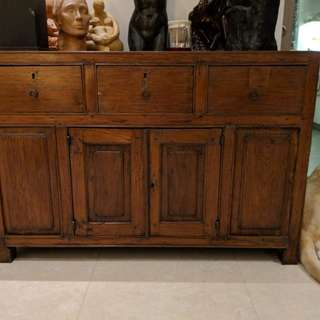 Indonesian old massif Teak Buffet Console
