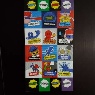 BN Superheros and their Powers Stickers