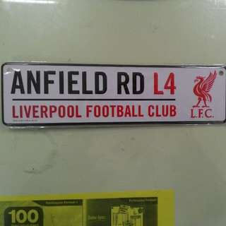 Plate Liverpool fc