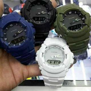 GSHOCK!!! g100 with box, tincan, manual & paperbag, water proof  luminous light