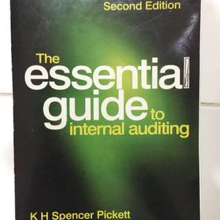 The essential guide to internal auditing second edition KH Spencer Pickett Wiley