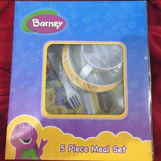 Brand new 50% Off Barney 5Pc Meal Set