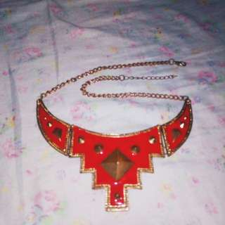Red x Gold Necklace