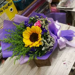 Graduation Flower Sunflower Bouquet