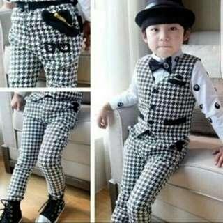 Baju 1 set anak laki usia 3-5 th