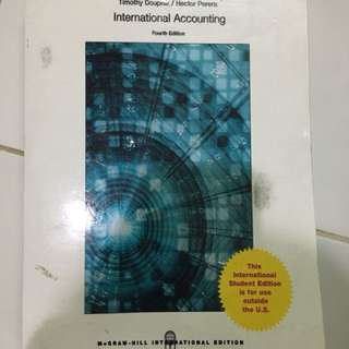 International Accounting fourth edition Timothy Doupnik / Hector Perera (Mc Graw Hill International Edition)