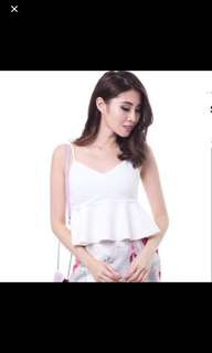 Mds Babydoll Top In White