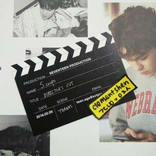 Seventeen Director's Cut S.Coups Business Card