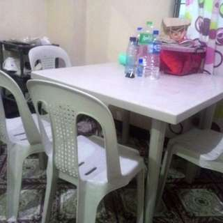 Monoblock Table with Chairs