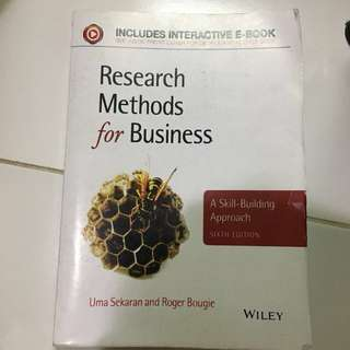 Research methods for business (Uma sekaran and roger bougie) WILEY