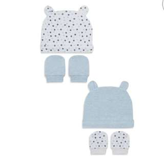 PRIMARK BABY 2 SET OF HAT & MITTEN
