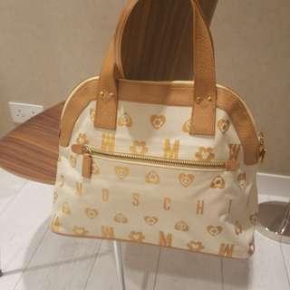Moschino monogram ivory handbag