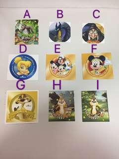 香港迪士尼樂園 貼紙多款