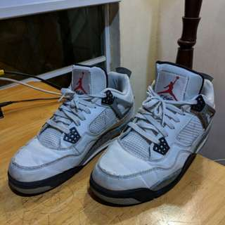 Jordan 4 white cement ( UA )