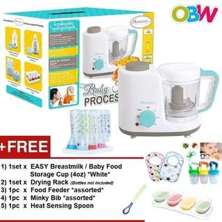 Autumnz 2-in-1 Baby Food Processor (Steam & Blend) *FREE x 5 GIFTS (4oz)*