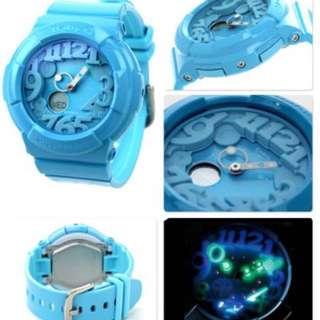 Casio Baby G 夜光星空燈 BGA-130 藍