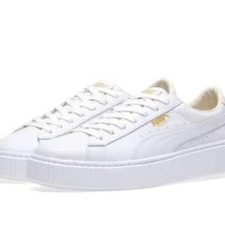 BRAND NEW PUMA White platform sneakers sz 9