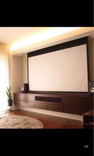 Epson electrical motorised remote projector screen canvas 120inches