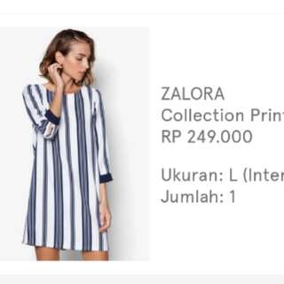 ZALORA Line Shift Dress (Used 2x)