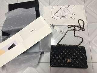 Chanel style 黑金羊 2.55 CF