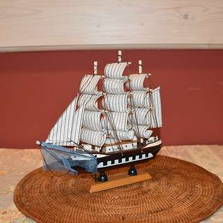 Sailing ship decorative object