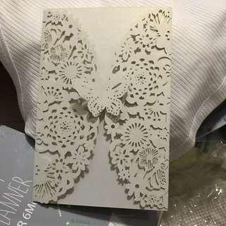 Lacy cut out invitation card/ envelope