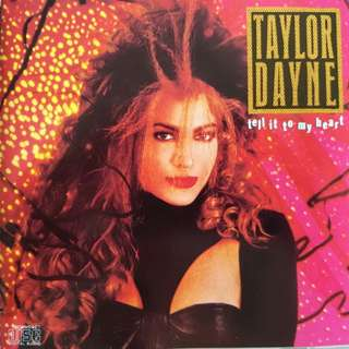 80s Pop and Disco Taylor Dayne Tell it to my heart Rare album old pressing