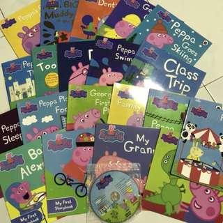Peppa pig book set