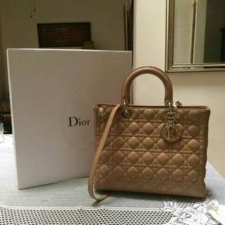 Lady Dior gold.used once.comes with long strap,paperbag,card