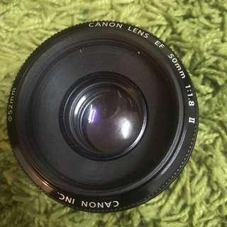 Canon 50mm EF 1:1.8 II