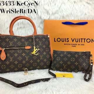 2 in 1 Louis Vuitton LV Handbag Set (FREE POSTAGE)